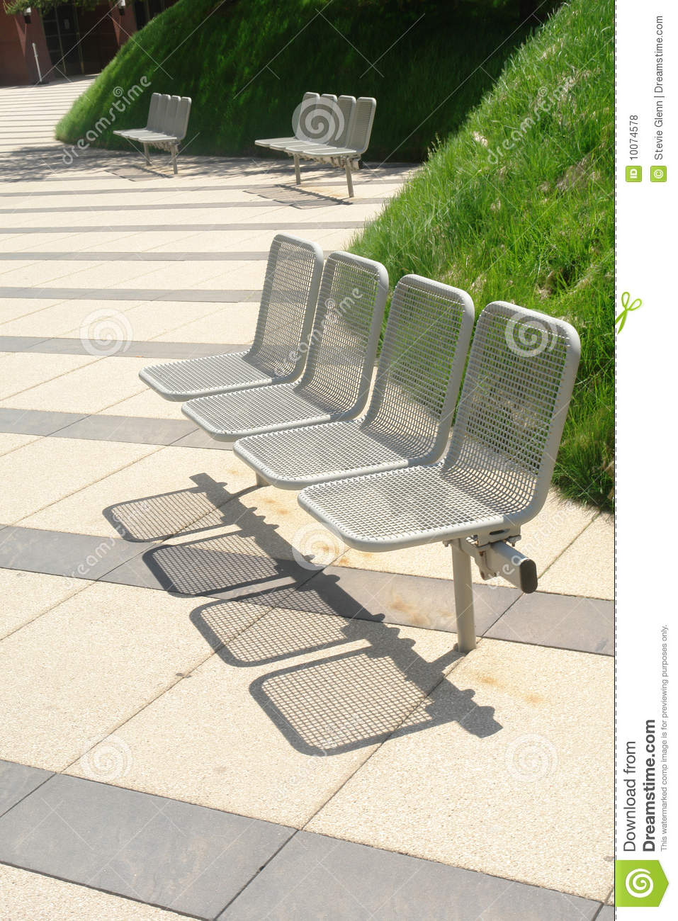Modern Park Benches Royalty Free Stock Photos - Image: 10074578