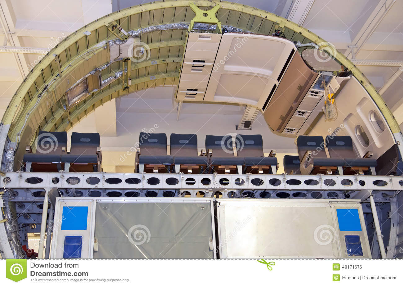 Modern Passenger Aircraft Cross Section Editorial Photo ...