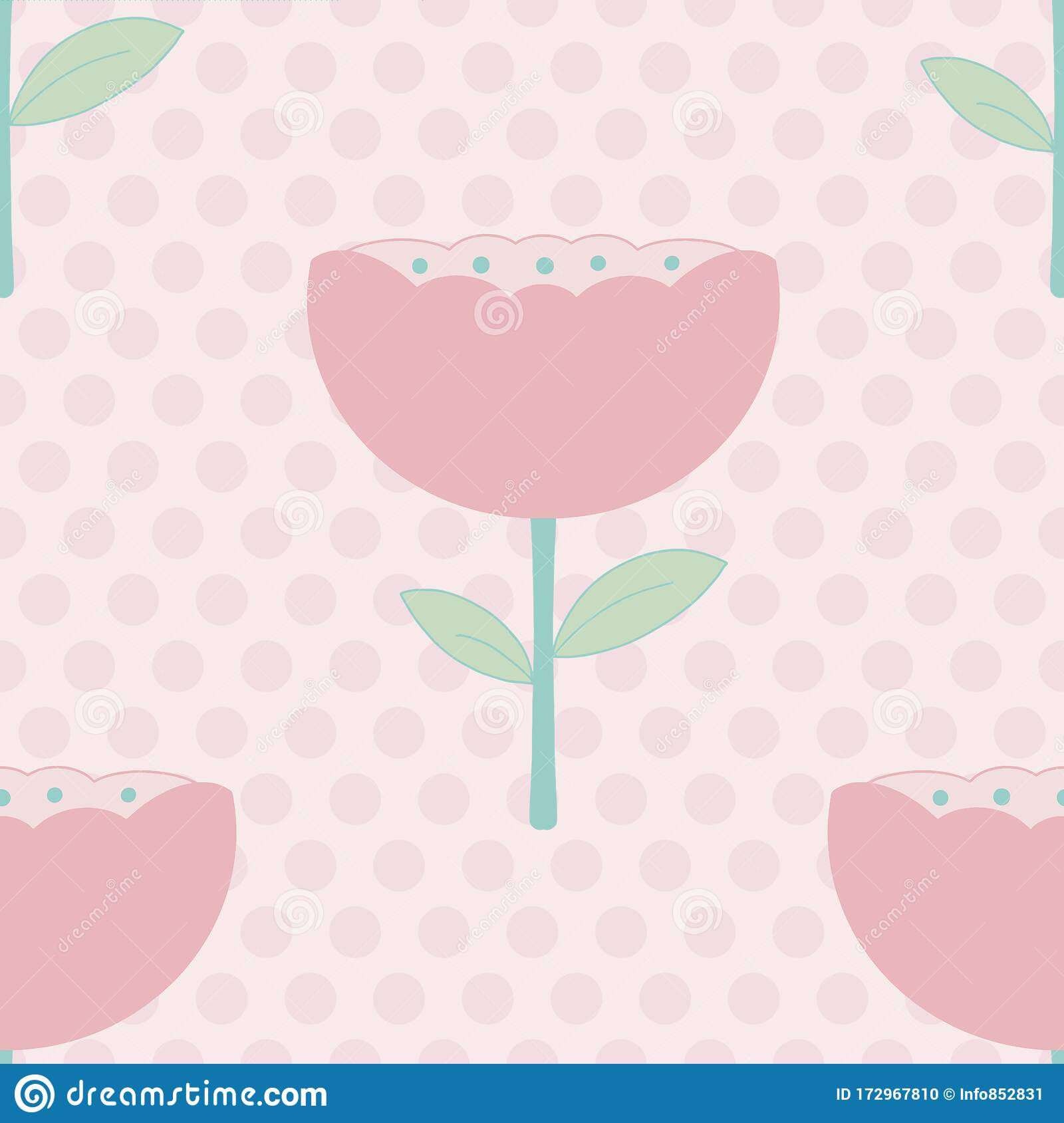 Modern Pastel Floral Seamless Vector Pattern In Soft Colors Stock Vector Illustration Of Cheerful Blossom 172967810