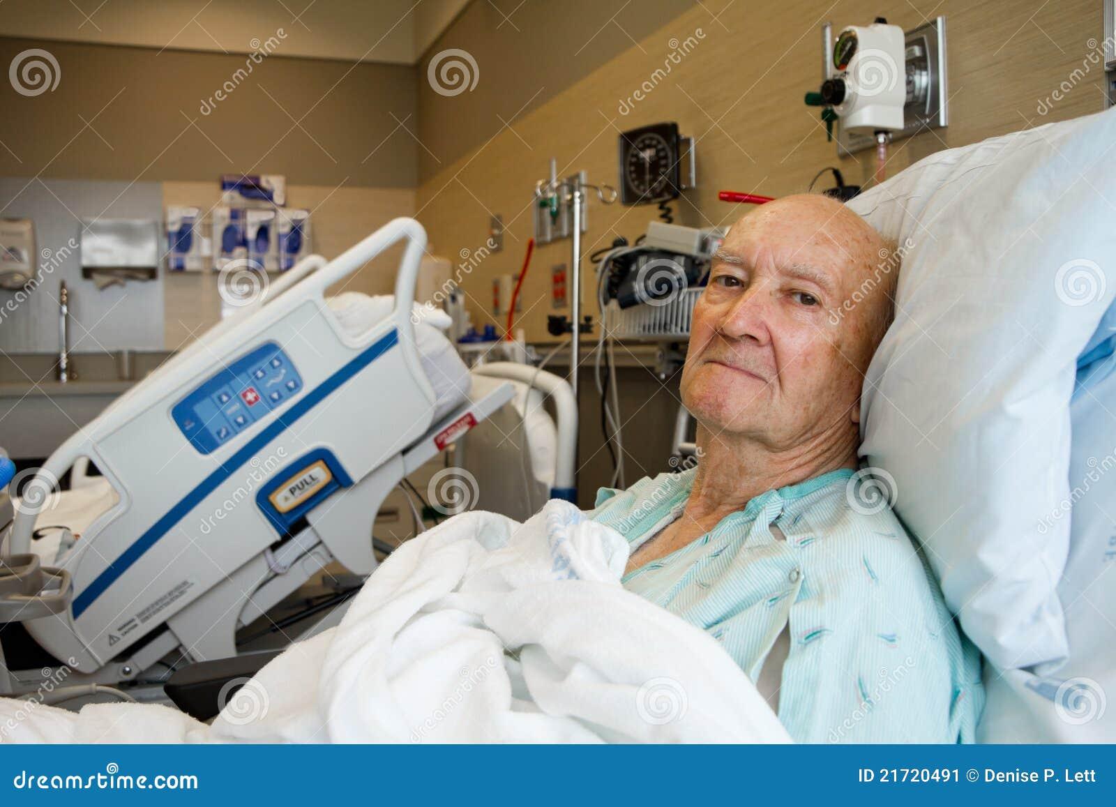 Modern patient lokal för sjukhus som sitter upp