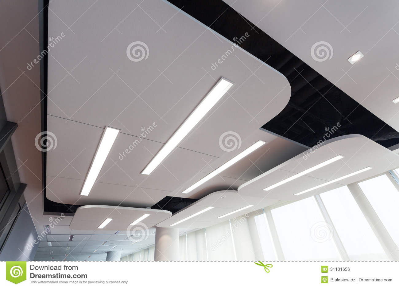 Modern Plafond Met Verlichting Royalty-vrije Stock Afbeelding - Beeld ...