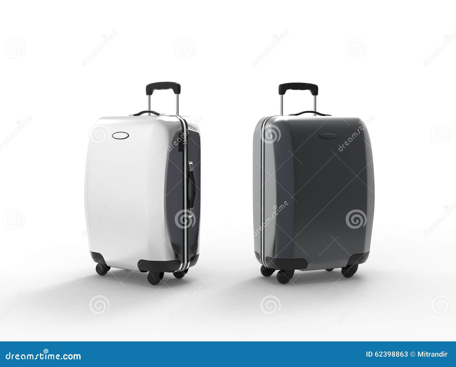 modern plastic suitcases stock photo  image  - background isolated modern plastic suitcases
