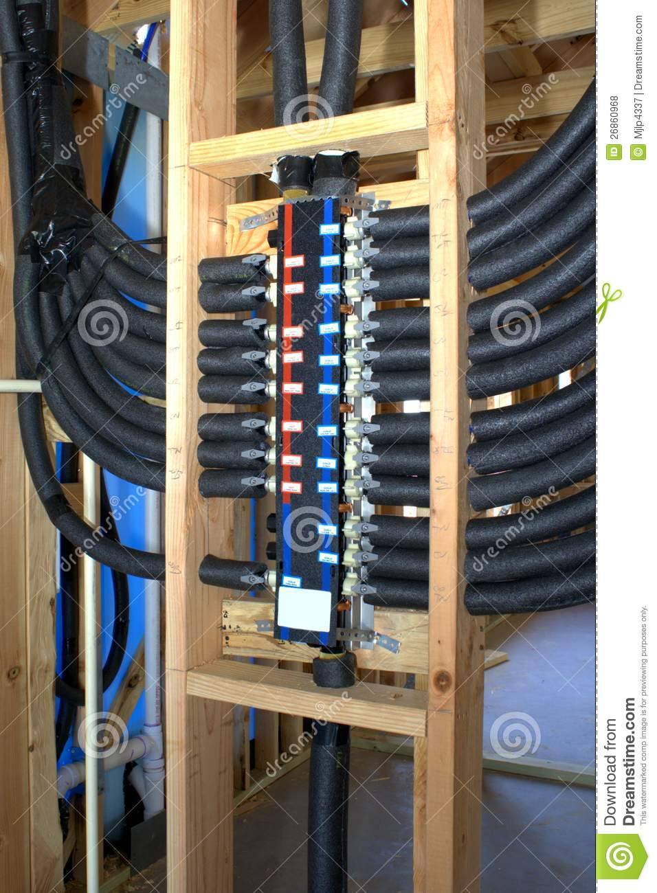 Modern plumbing royalty free stock photos image 26860968 for Plumbing for new construction