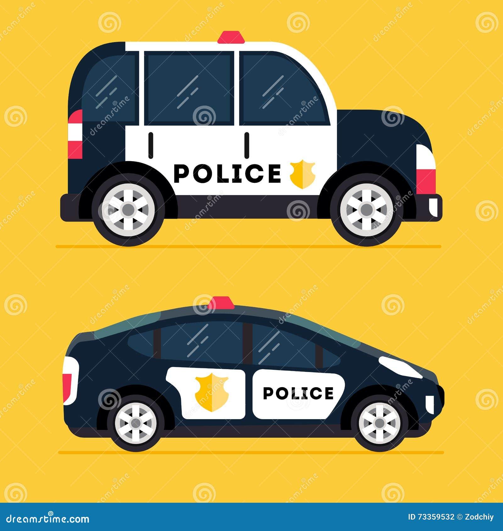 Modern polisbil för vektor