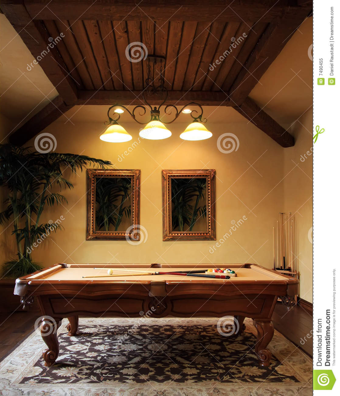 Modern Pool Game Room Royalty Free Stock Photo Image