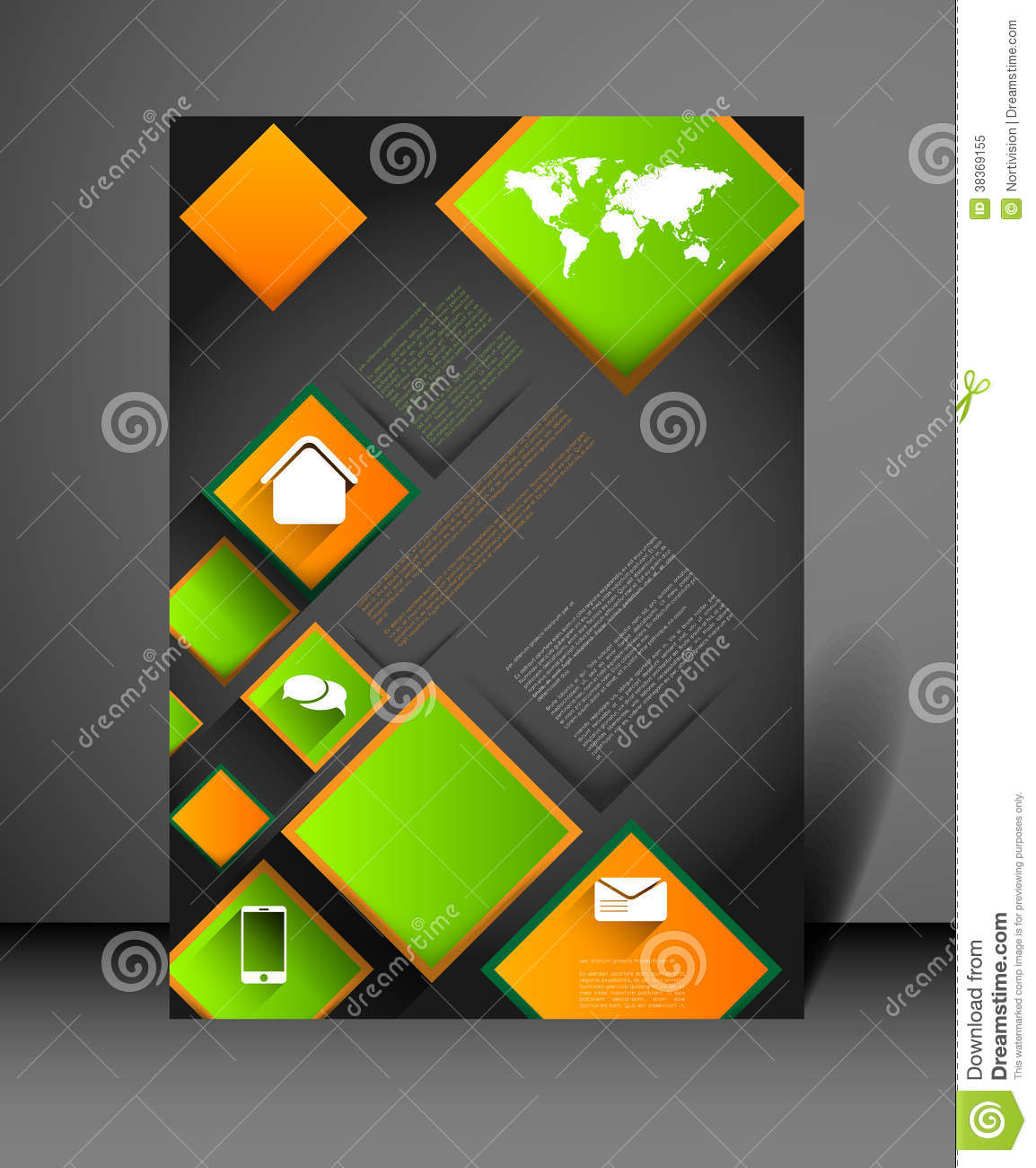 modern poster design template stock vector image 38369155. Black Bedroom Furniture Sets. Home Design Ideas