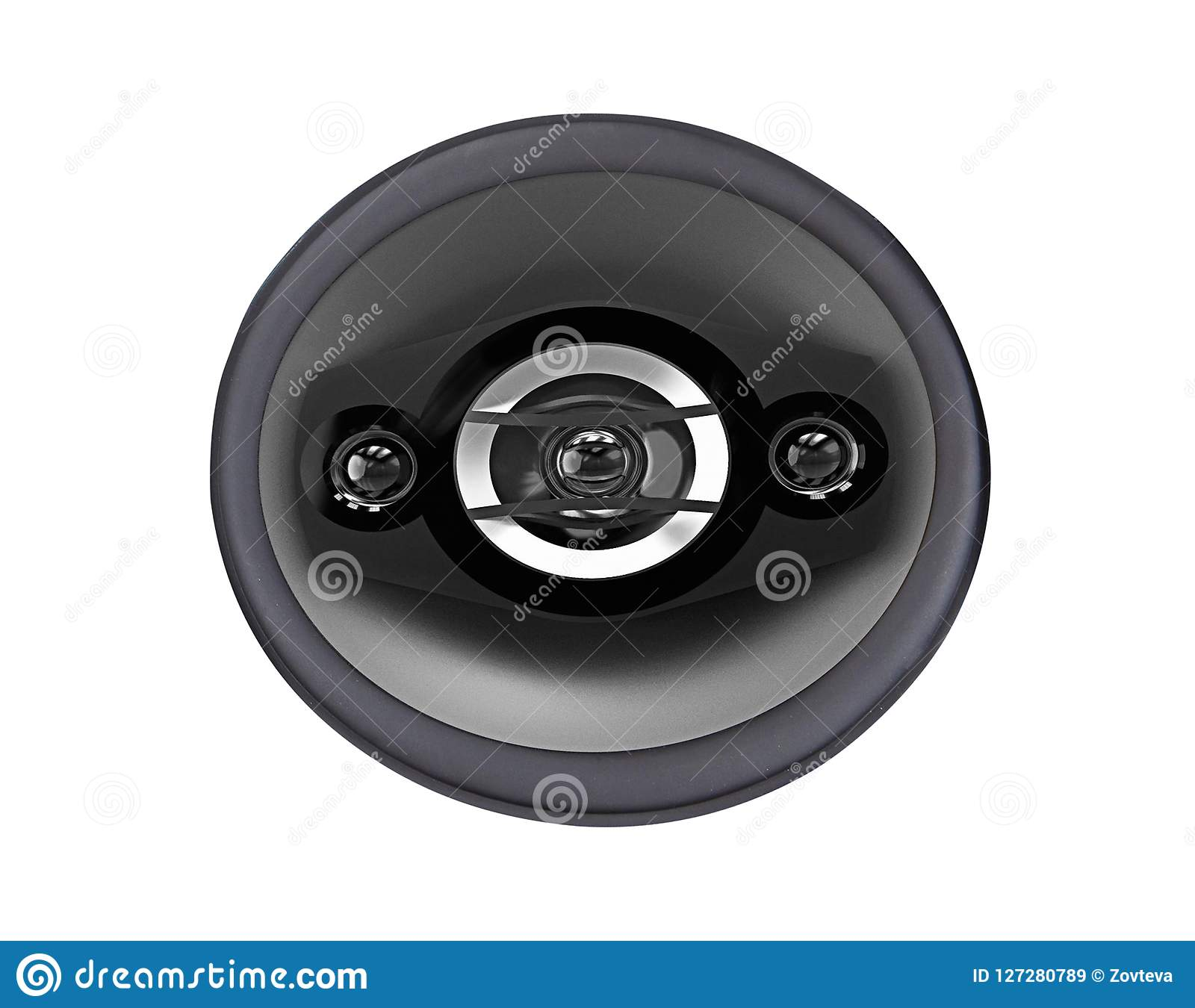 Modern power loudspeaker isolated on white