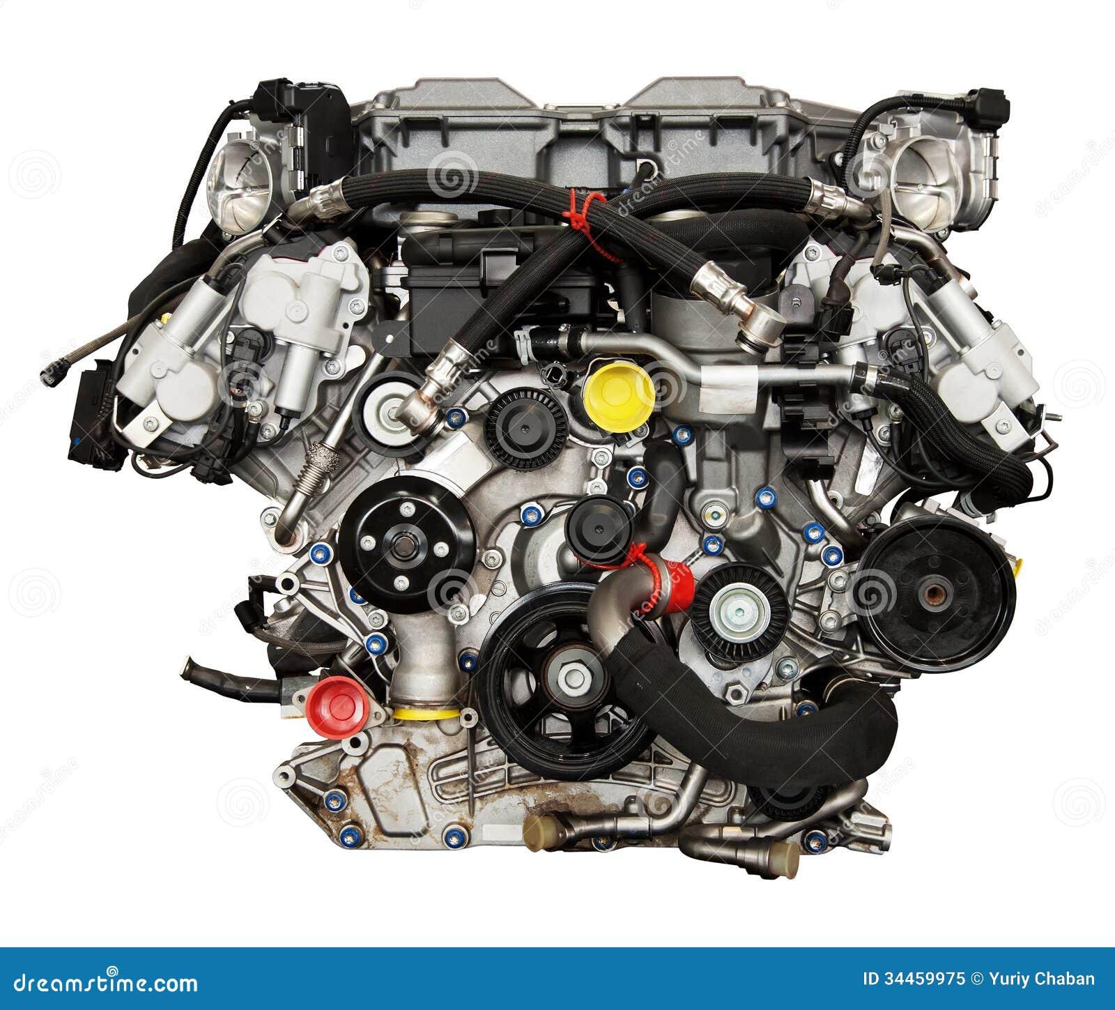 Modern Powerful Cars Engine Stock Image Image 34459975