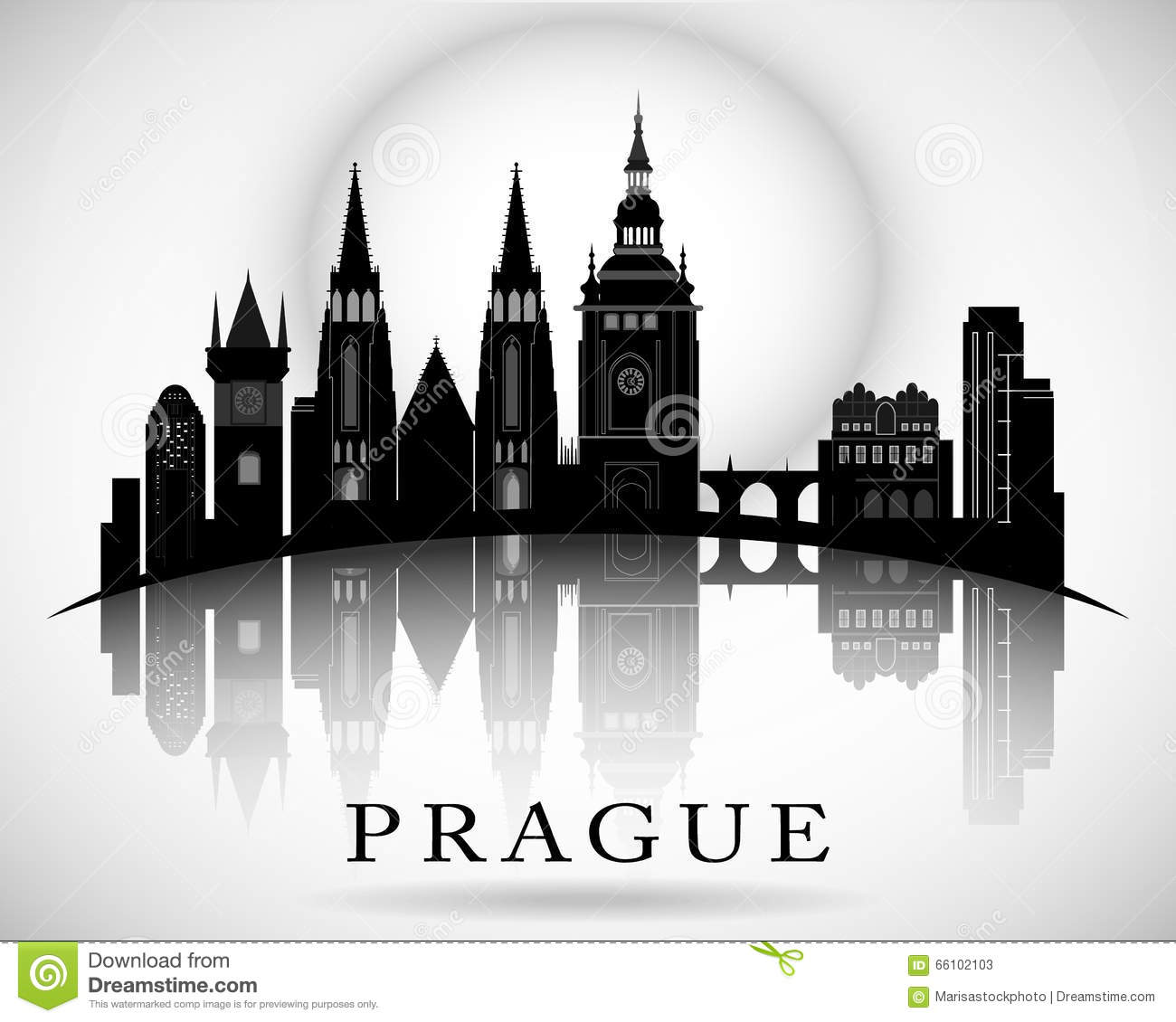Modern Prague City Skyline Design - Czech Republic