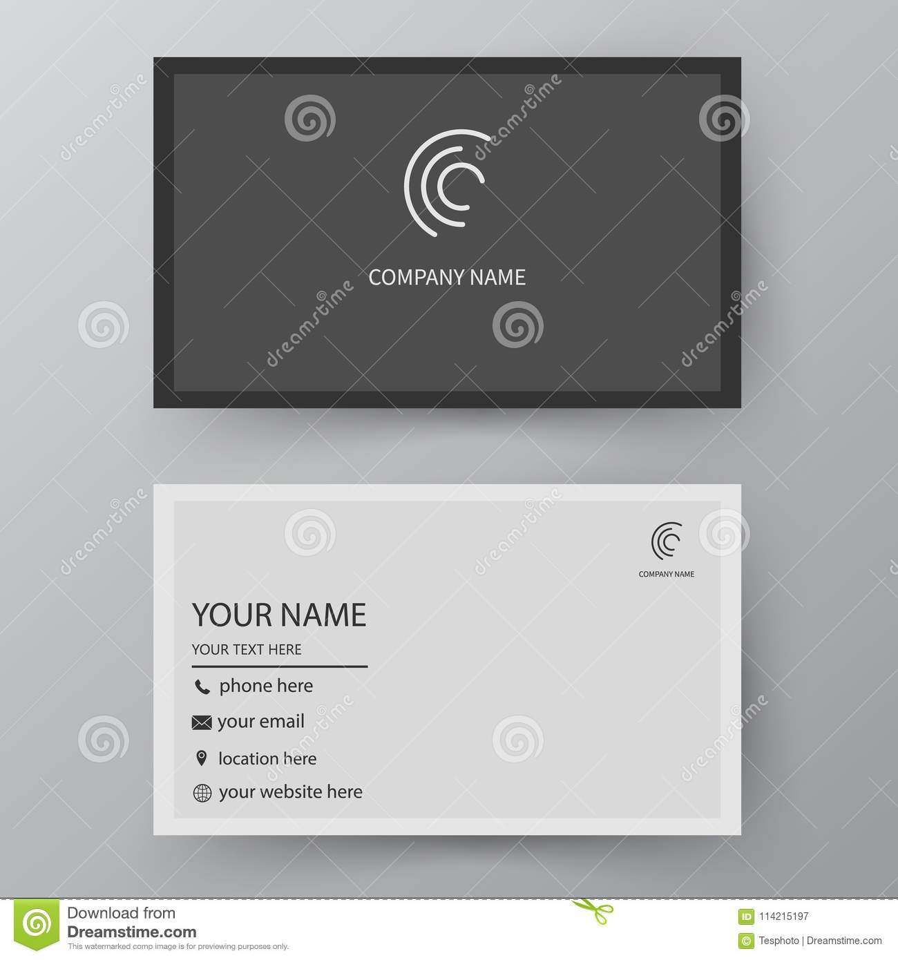 Vector business card template visiting card for business and pe royalty free vector download vector business card template flashek