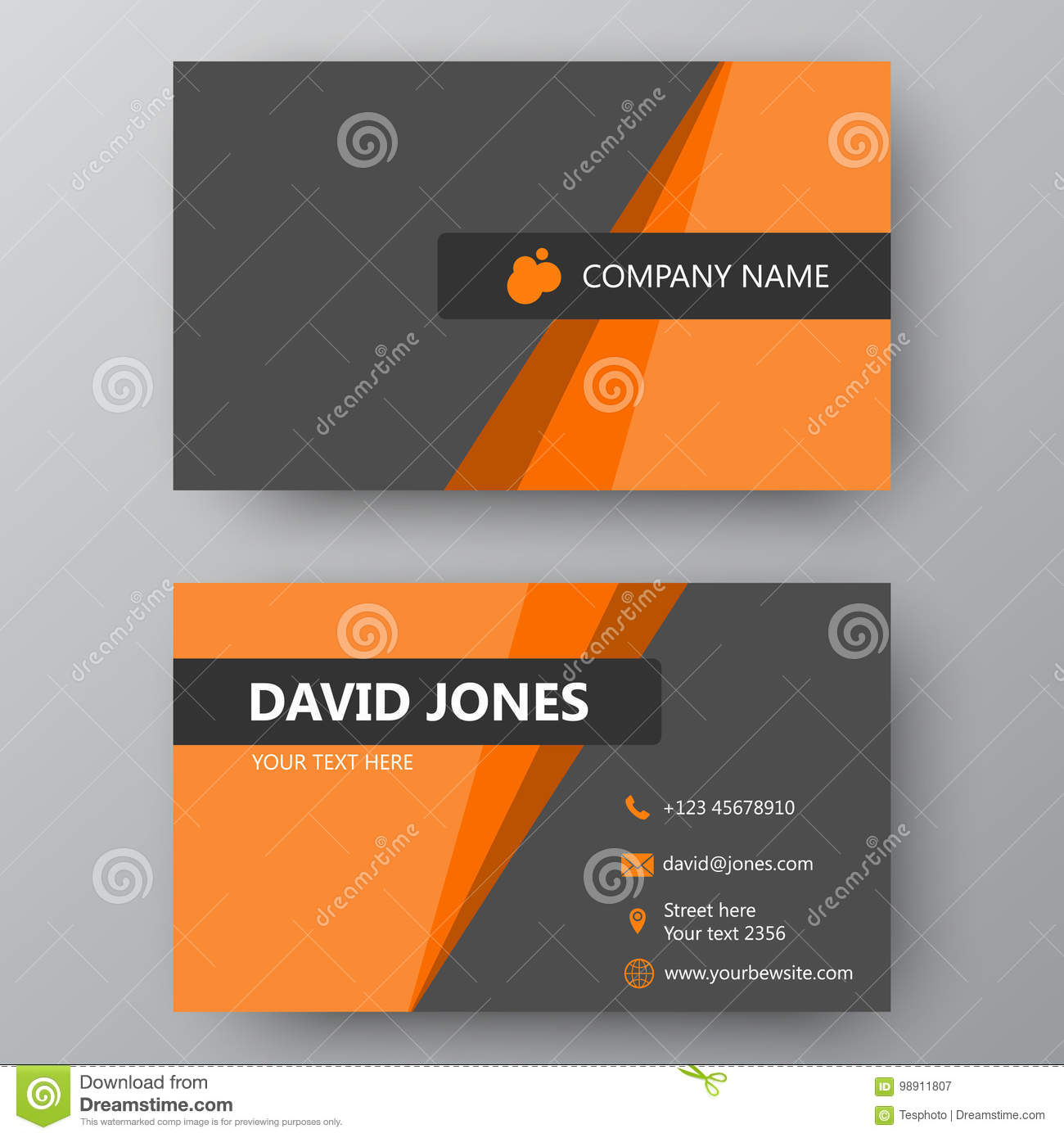 Modern presentation card with company logo vector business card modern presentation card with company logo vector business card branding cards reheart Gallery