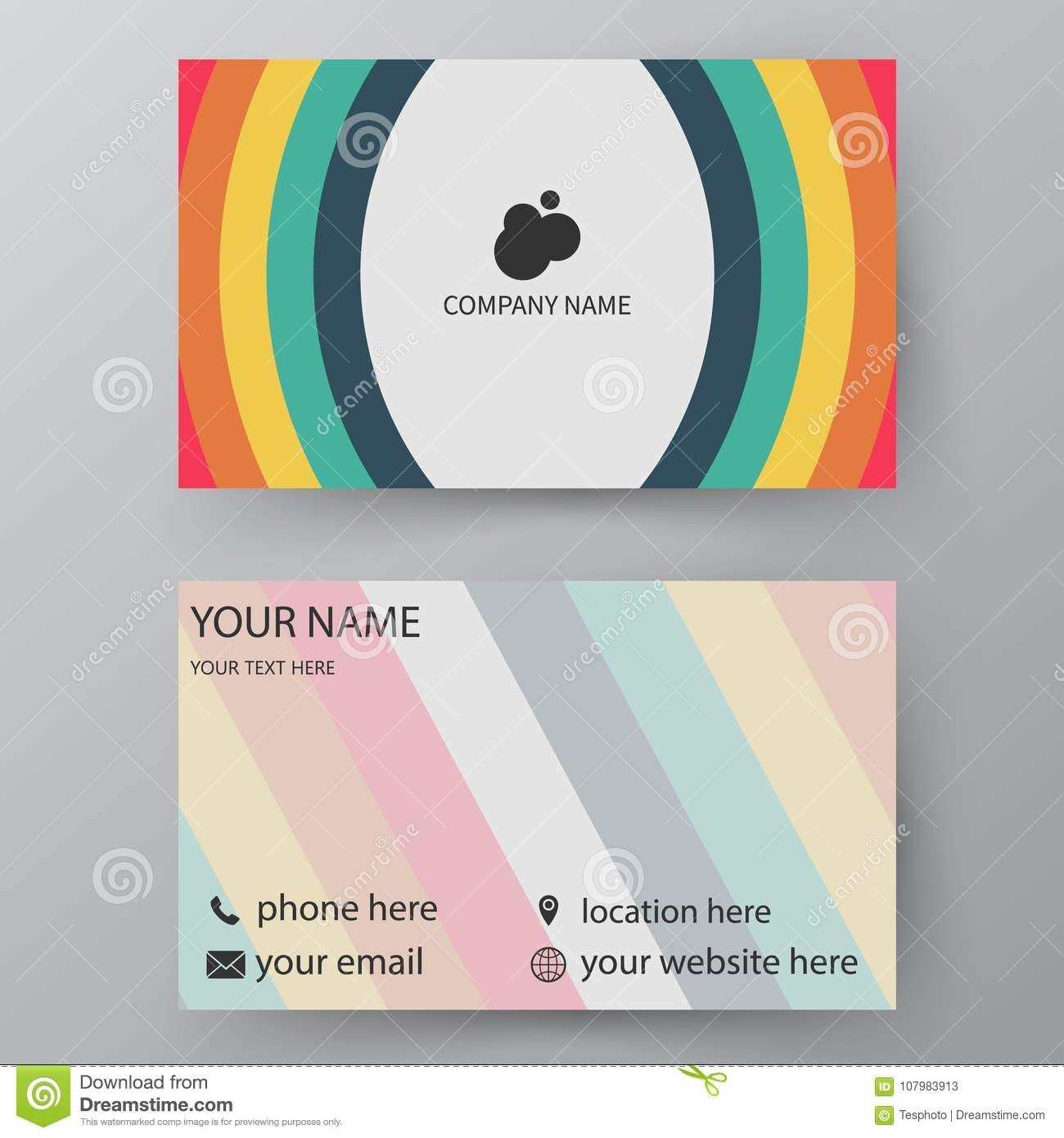Modern Presentation Card With Company Logo Vector Business Template Visiting For And Personal Use Illustration Design