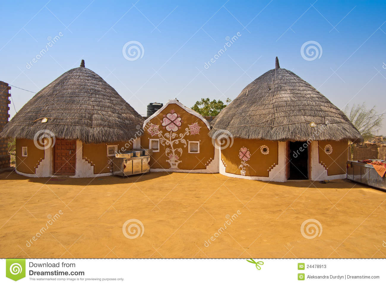 Modern Private Village In India Stock Image Image Of