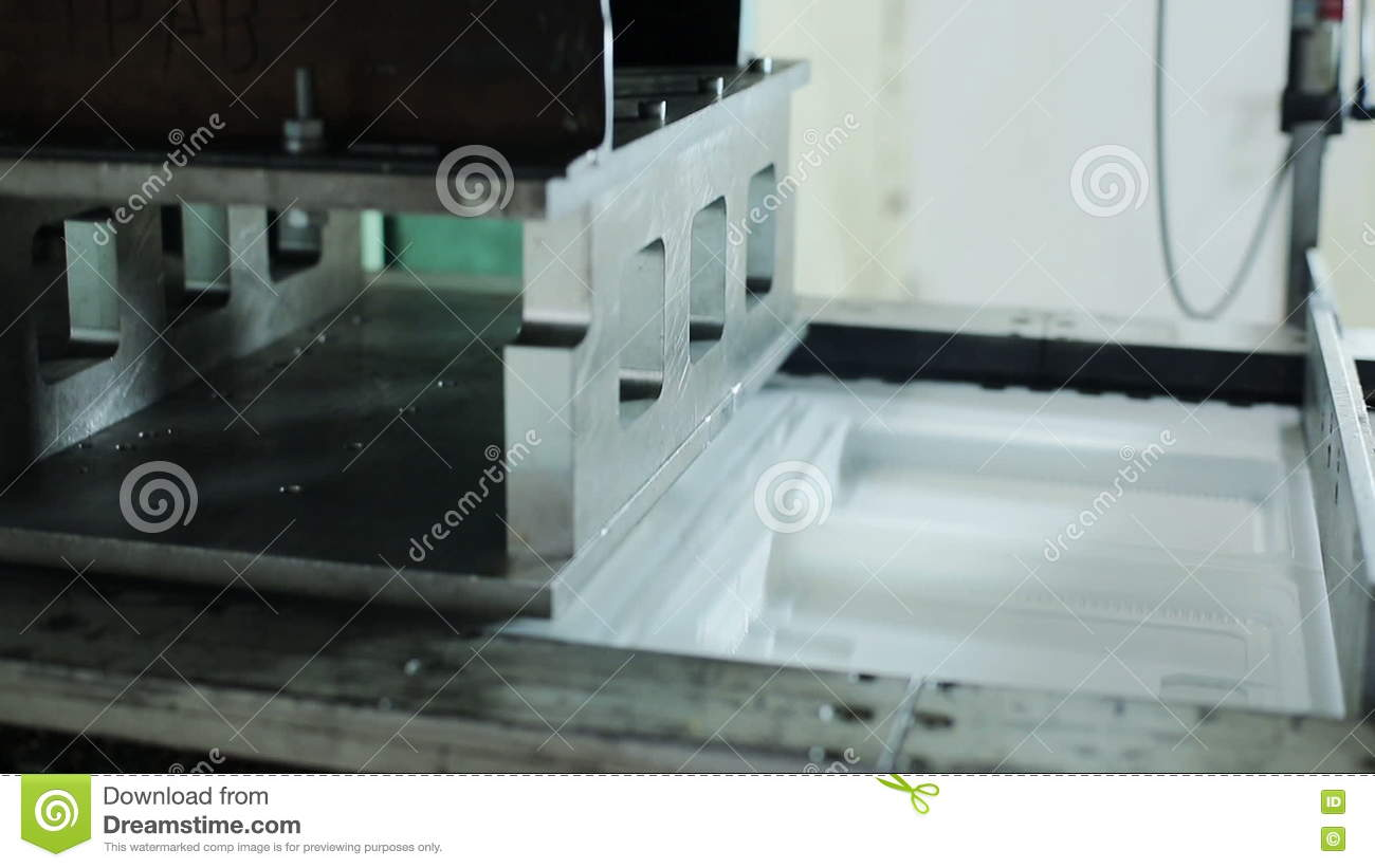 Modern Production Of Containers From Safe Material For Food