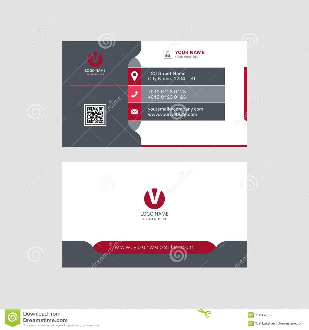 Modern Profesional Eyectching Business Card Design Visiting