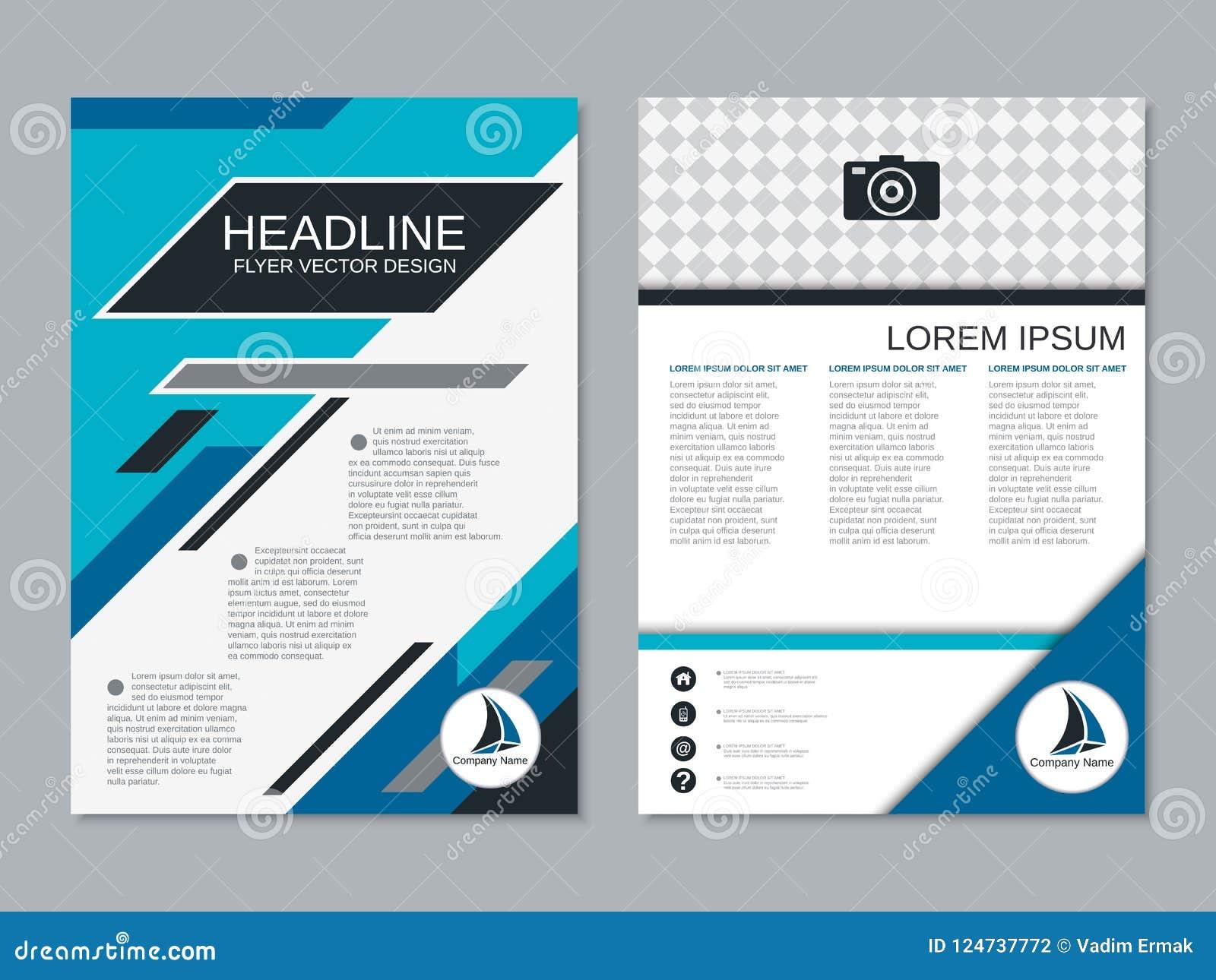 modern professional business flyer vector template stock vector