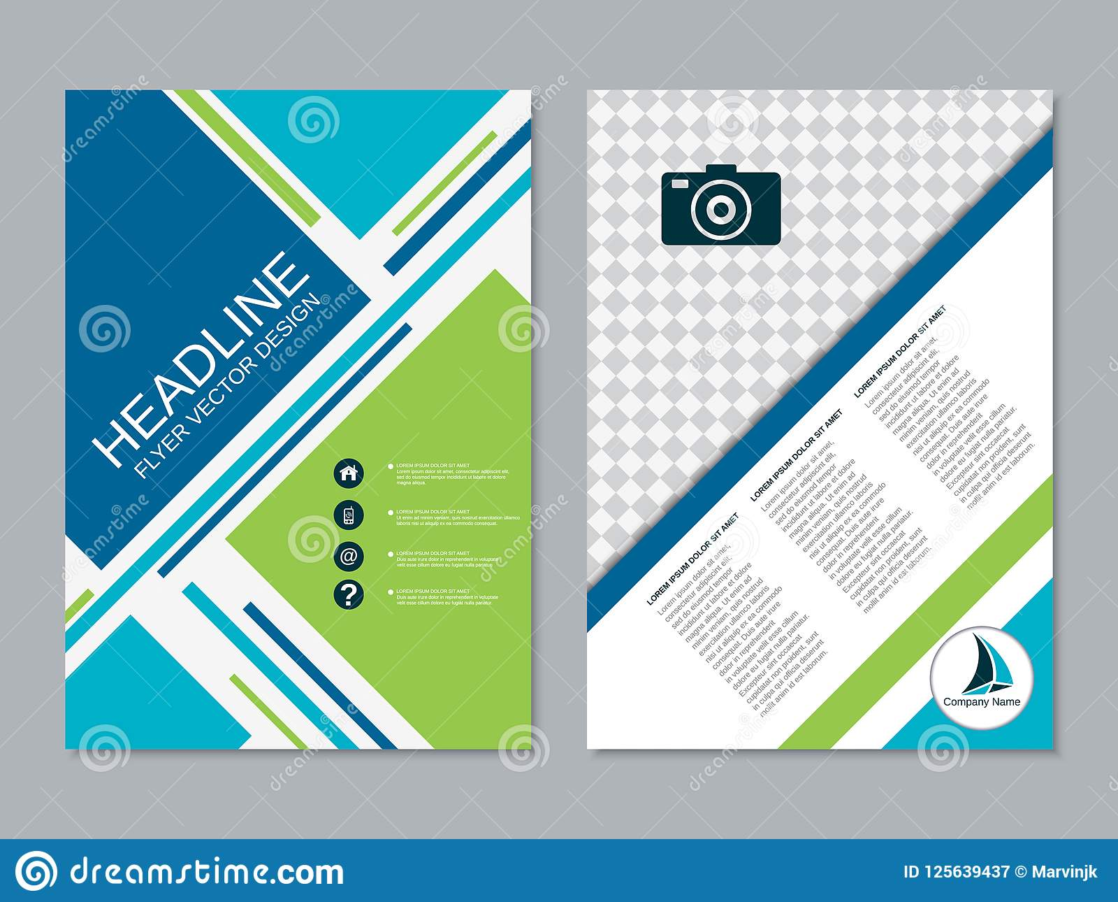 modern professional business flyer vector template stock vector