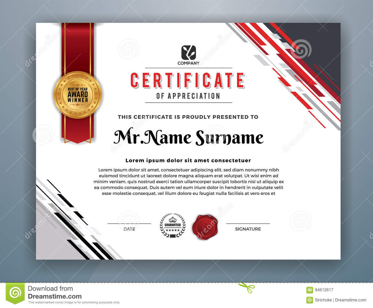 Modern professional certificate template stock vector image royalty free vector download modern professional certificate template yadclub Images