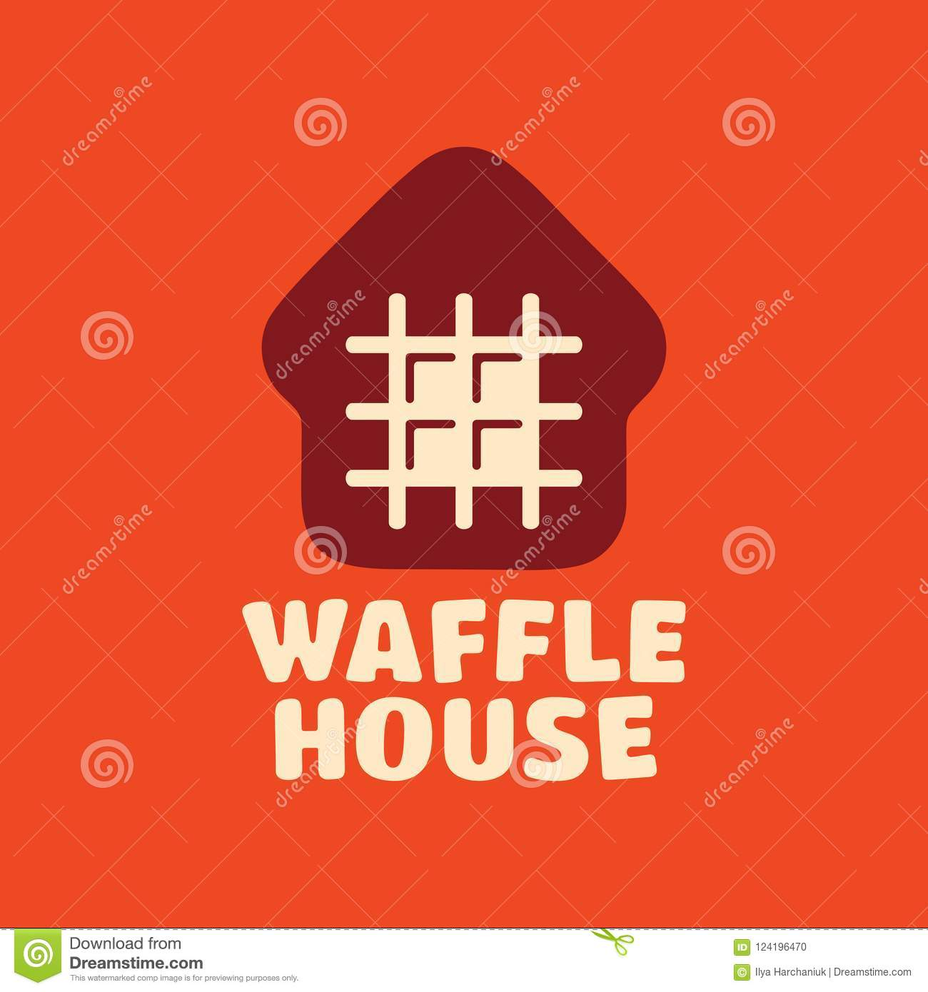 Modern Professional Vector Logo Waffle House In Orange Theme Stock