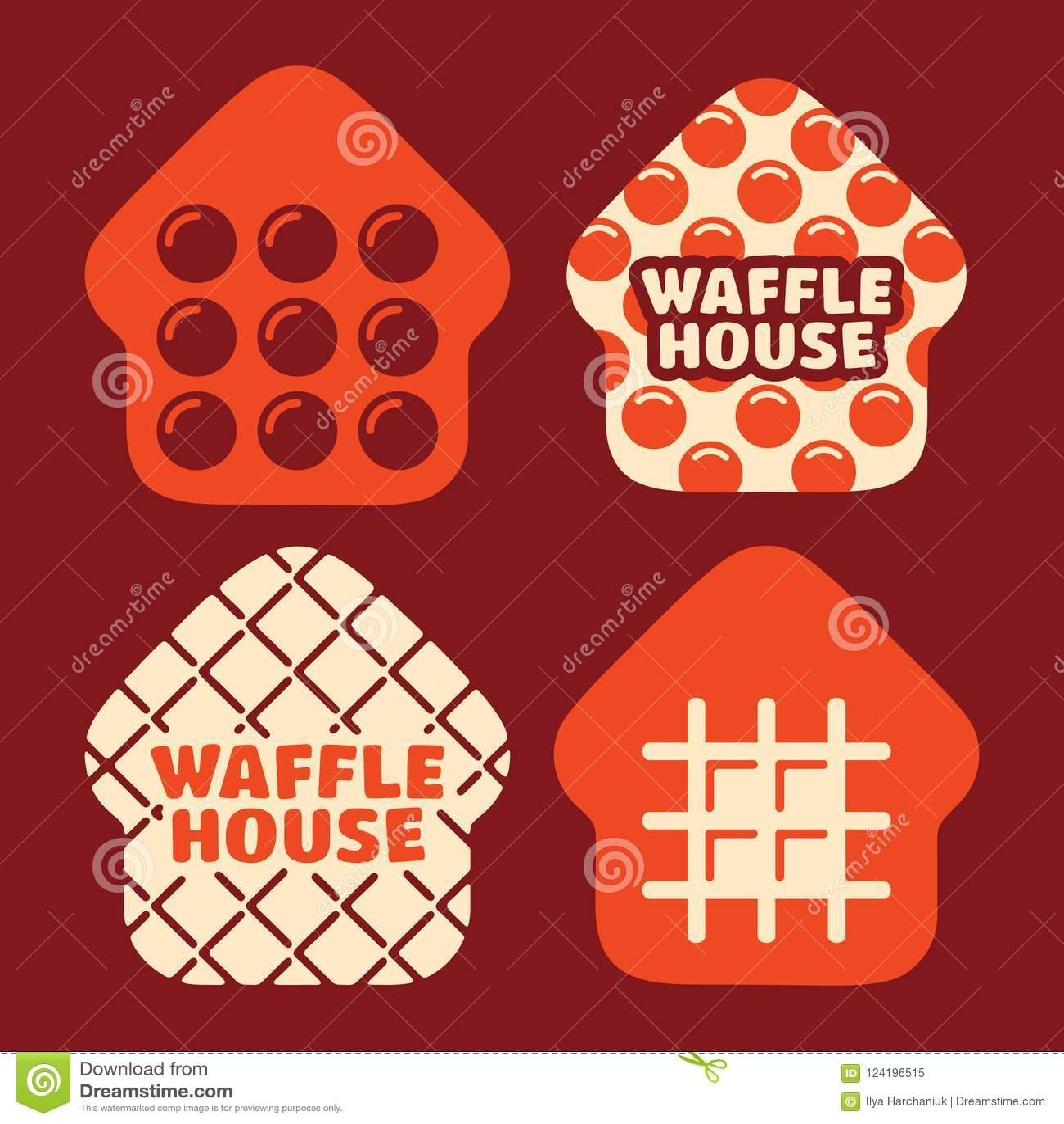 Modern Professional Vector Set Logo Waffle House In Orange Theme Stock Illustration Illustration Of House Bakery 124196515 Free vector logo waffle house. dreamstime com