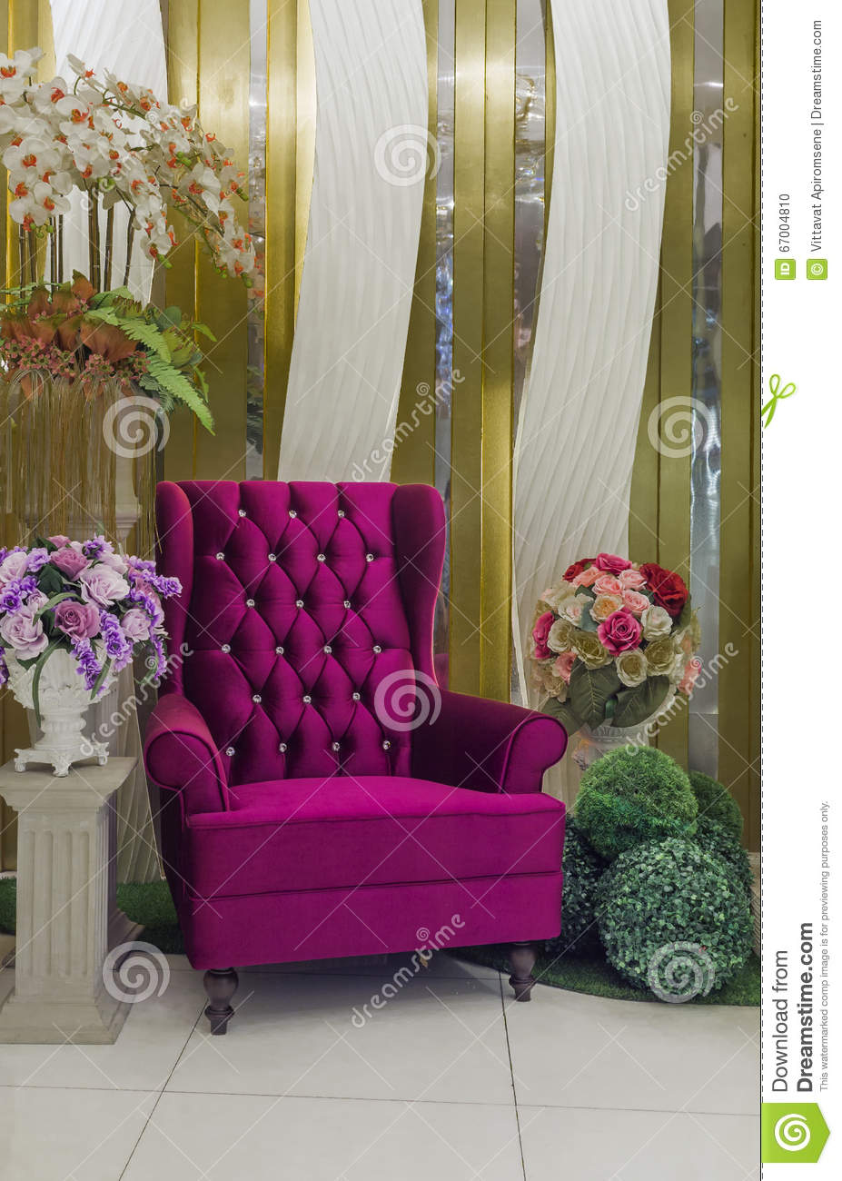 Modern Purple Armchair
