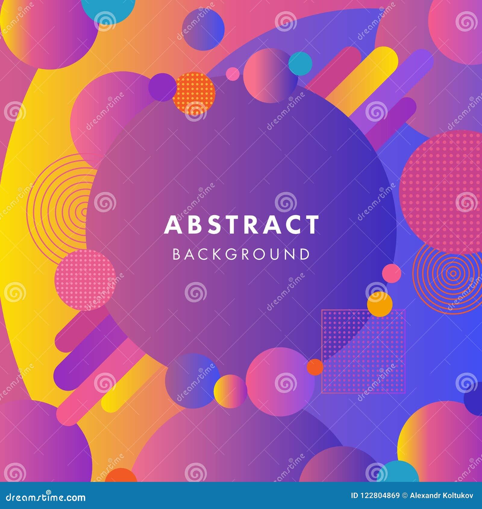 elegant background with flat dynamic ultra violet bubbles design