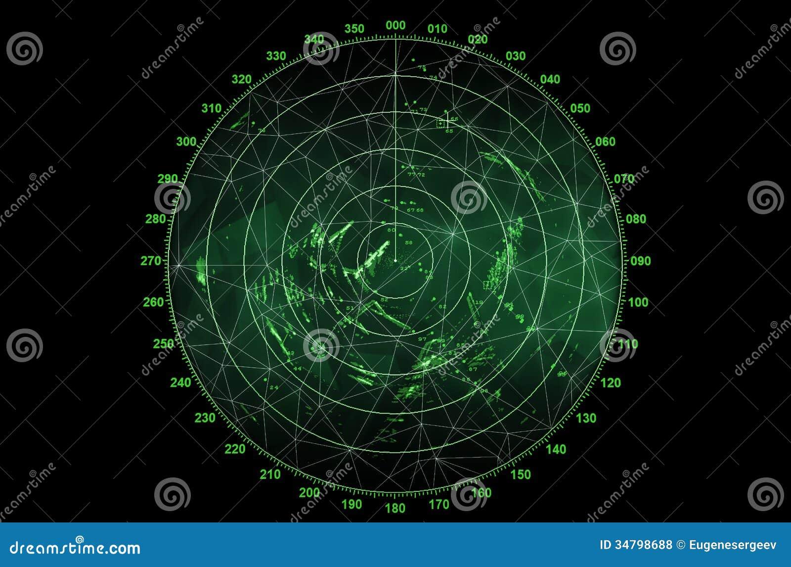 Modern Radar Screen Royalty Free Stock Photos Image