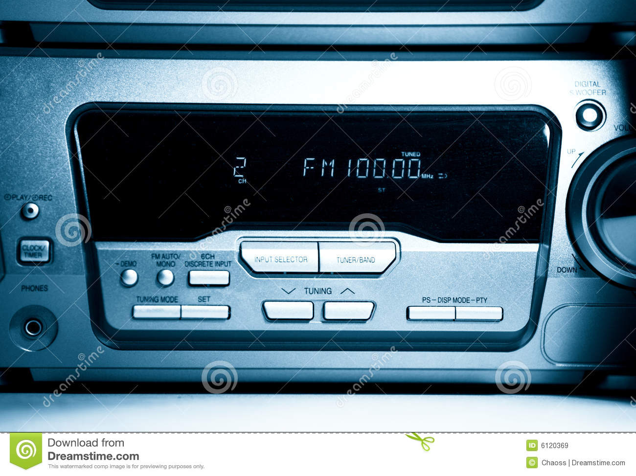 modern radio front view royalty free stock images image 6120369