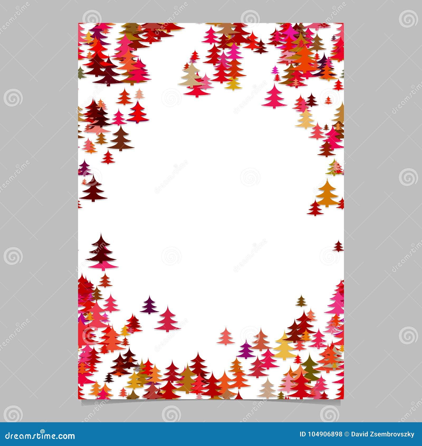 modern holiday pine tree presentation template