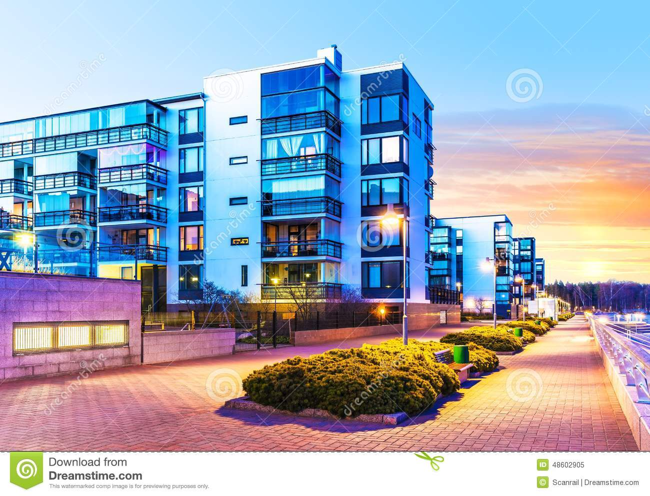 Modern real estate stock photo image 48602905 for Modern house real estate