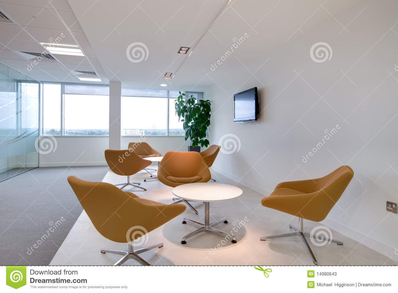 Modern Reception Area Stock s Image