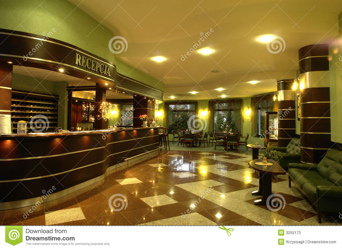 Modern Reception Area Stock Image Image Of Comfortable