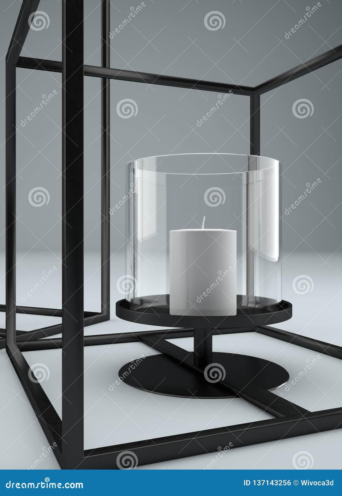 Picture of: Modern Rectangular Metal Framed Candle Holder Stock Illustration Illustration Of Rectangular Cube 137143256