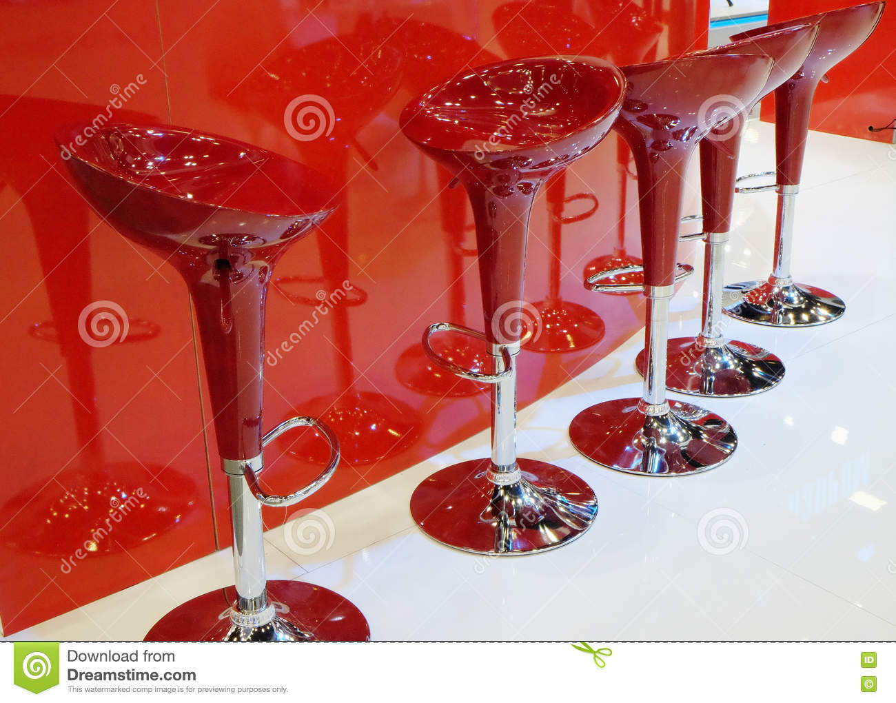 Picture of: Modern Red Bar Stools Stock Image Image Of Modern Food 79047017