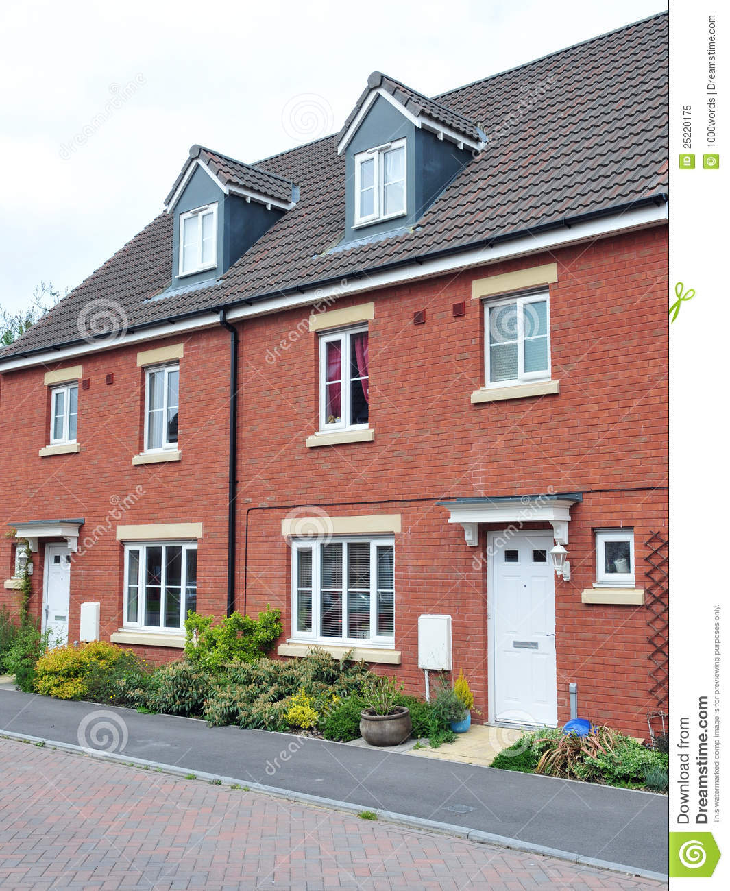 Modern Red Brick Houses Royalty Free Stock Photo Image