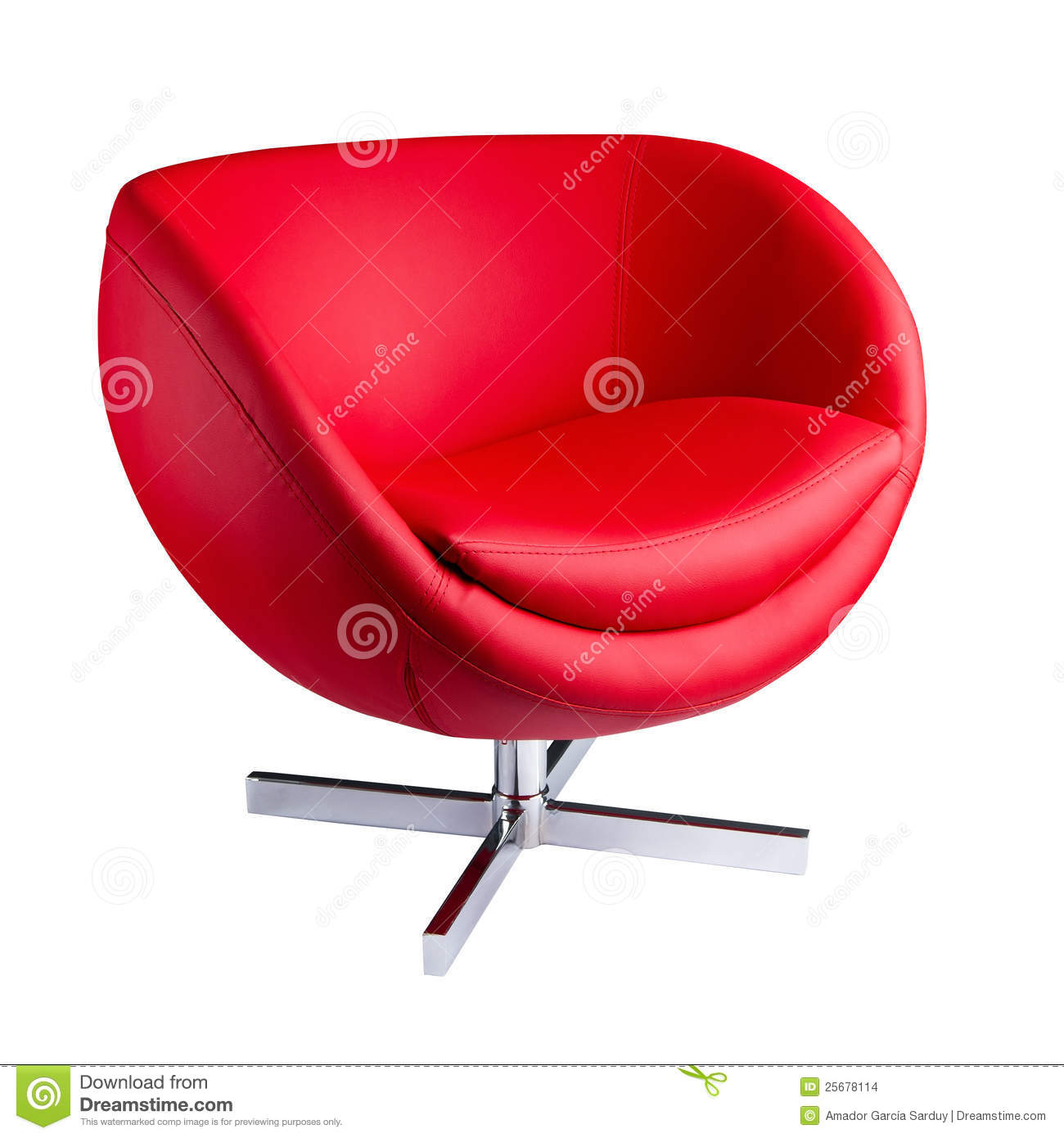 Modern Red Chair Stock Photo Image Of Elegance Object 25678114