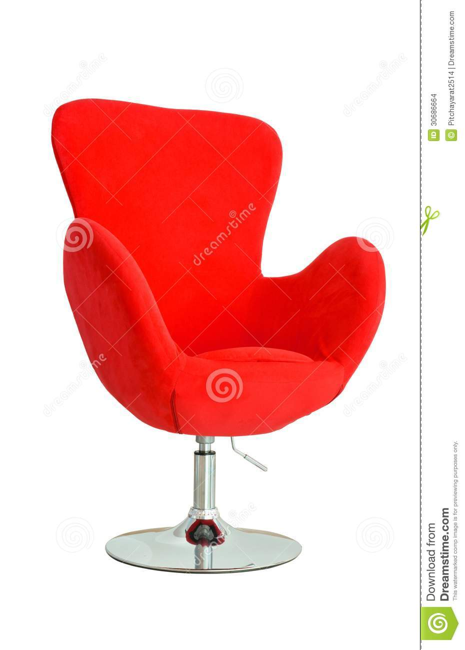 modern red chair stock images  image  - modern red chair