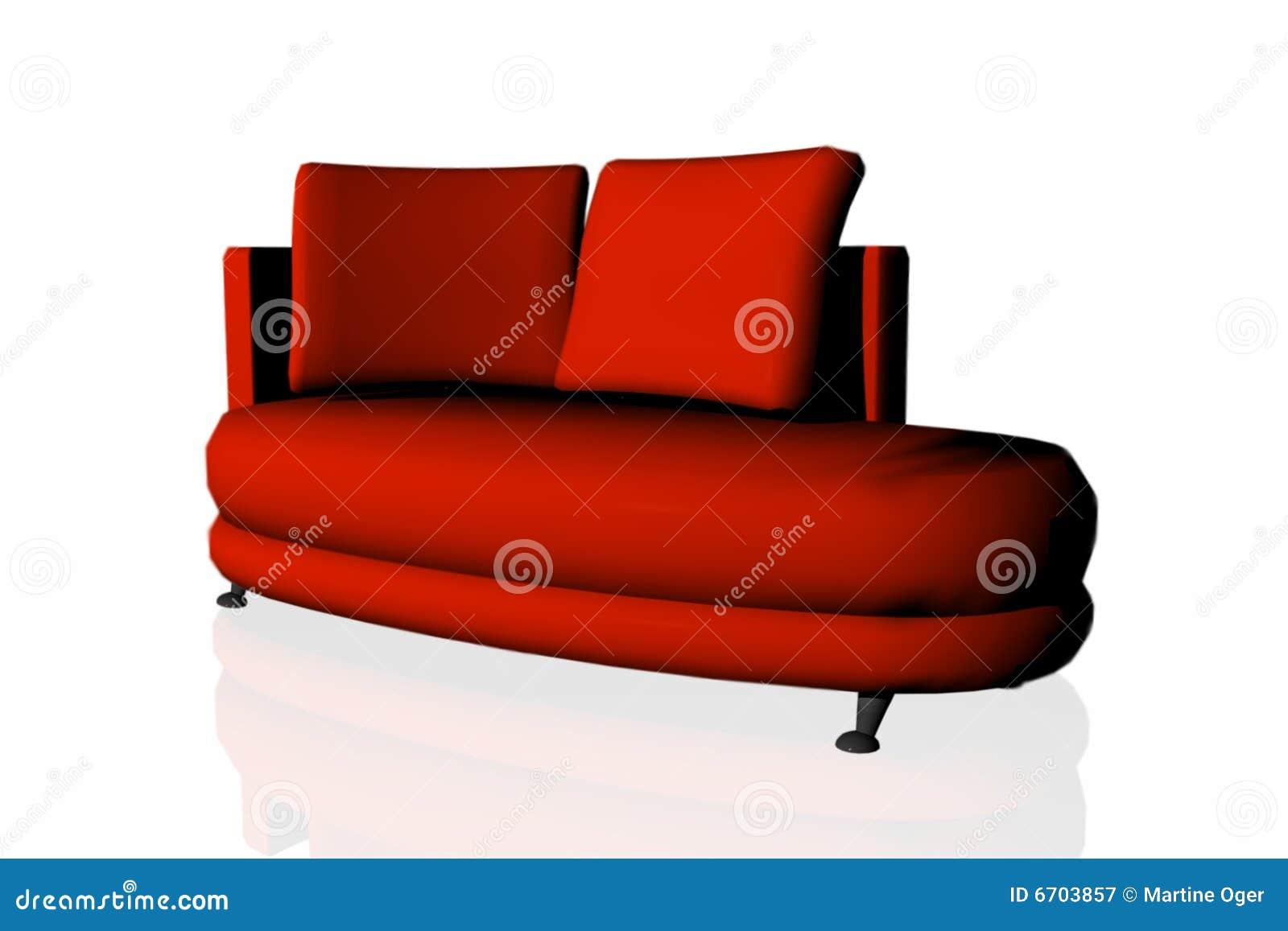 modern red divan royalty free stock photography image. Black Bedroom Furniture Sets. Home Design Ideas