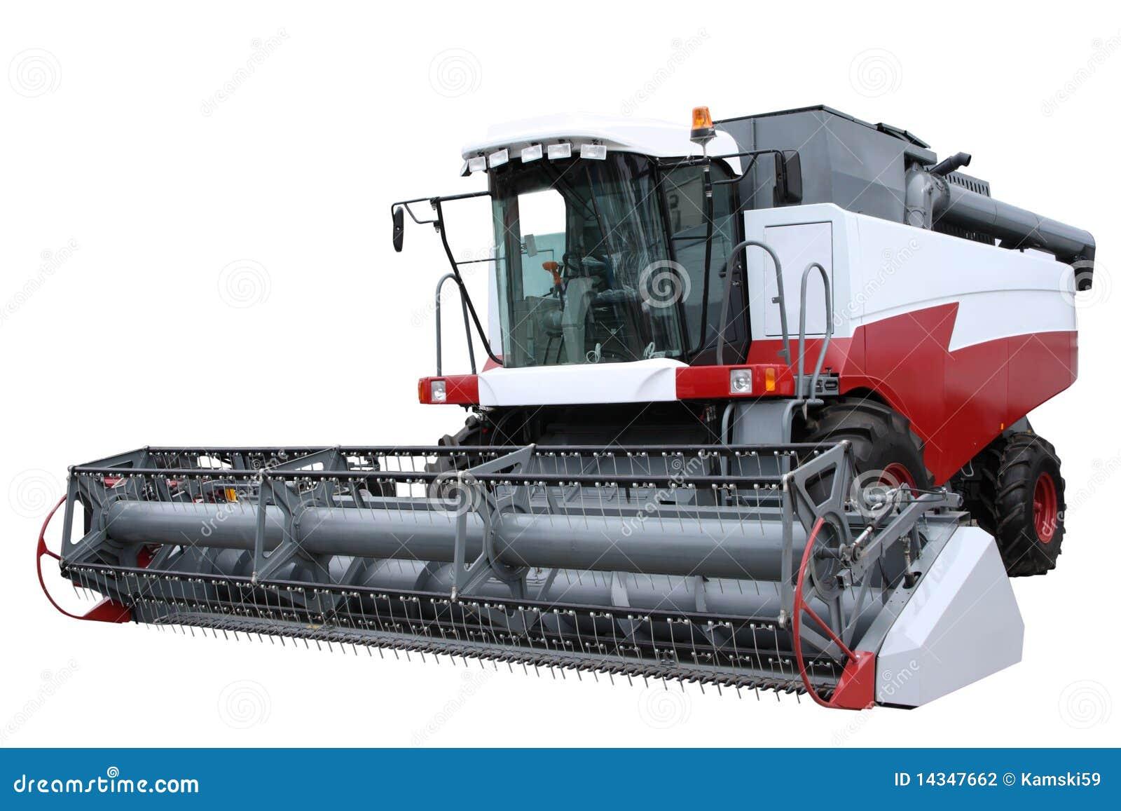 Modern red för combine