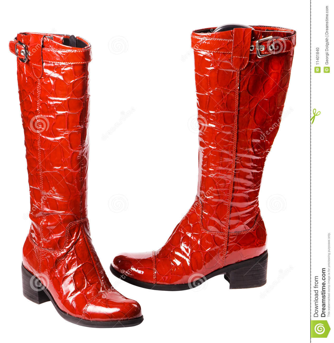 Modern red female boots
