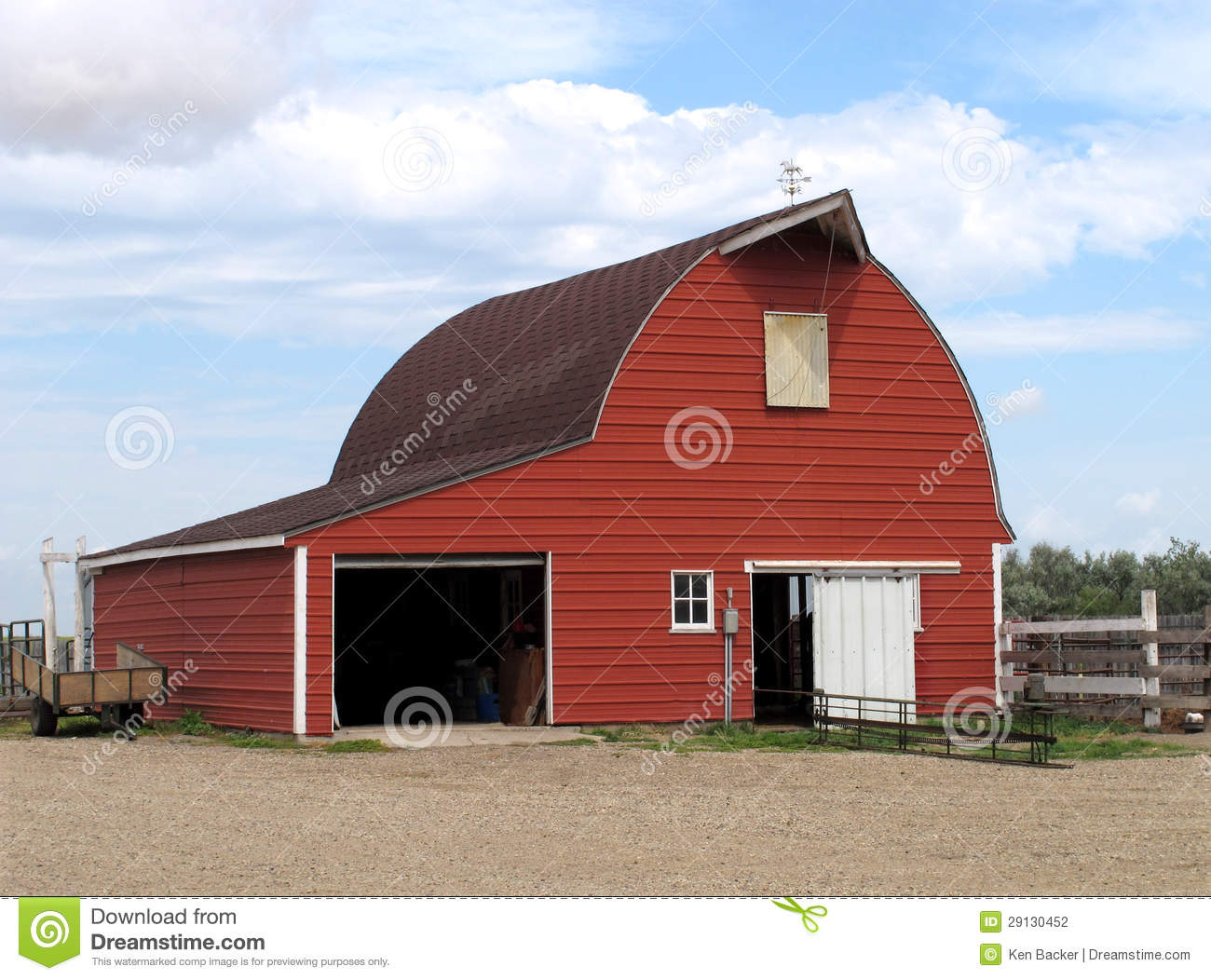 Modern Red Metal Barn Stock Photo Image Of Building