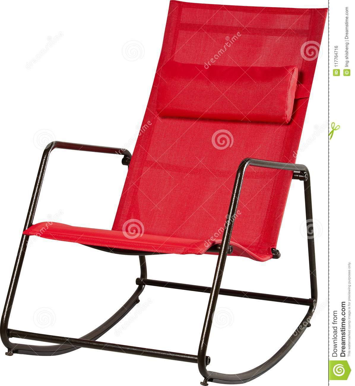 Admirable Modern Red Rocking Chair On White Backgroundgreen Stock Pdpeps Interior Chair Design Pdpepsorg