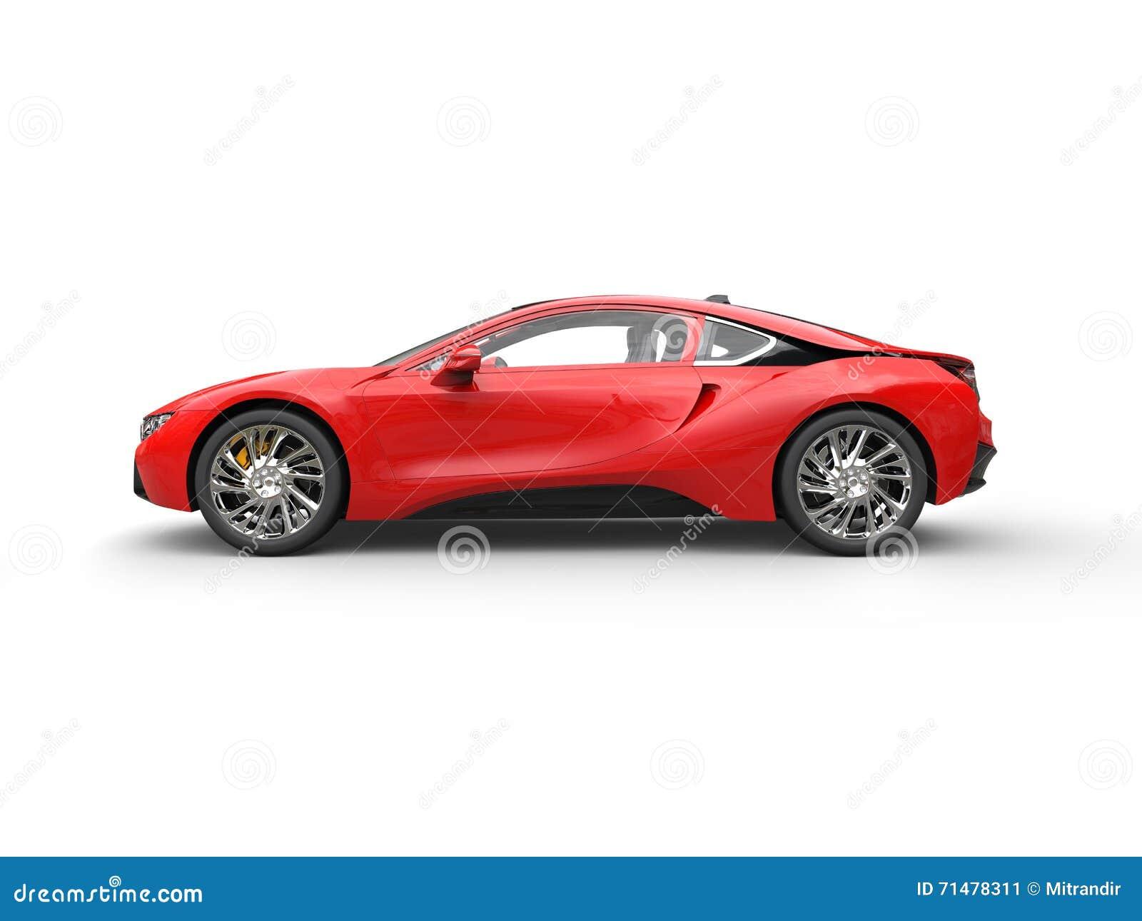 Modern Red Sports Car ...