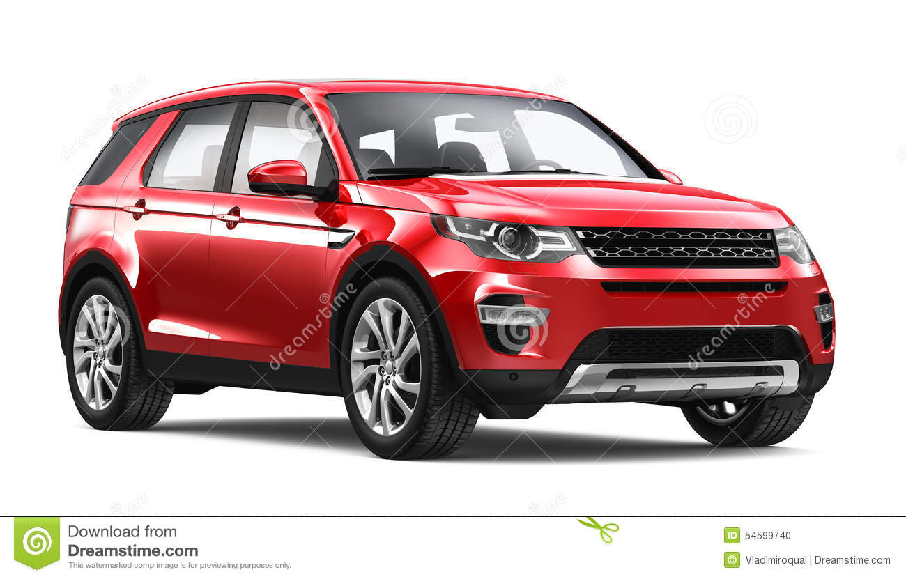Red Compact Suv Stock Illustration Image