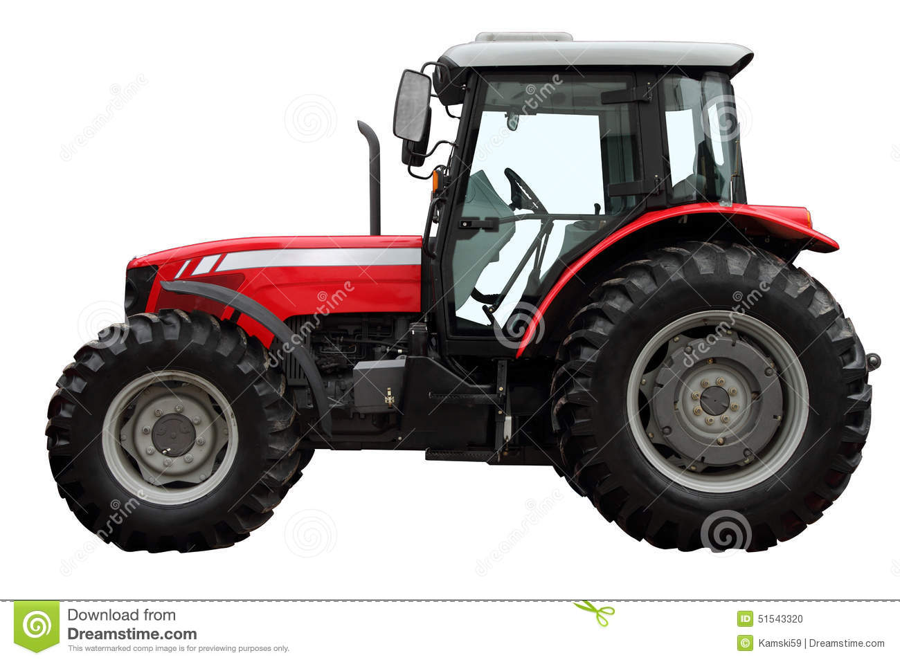 Stock Photo Modern Red Tractor Isolated White Background Side View Image51543320 on 16 X 24 Cabin Plans