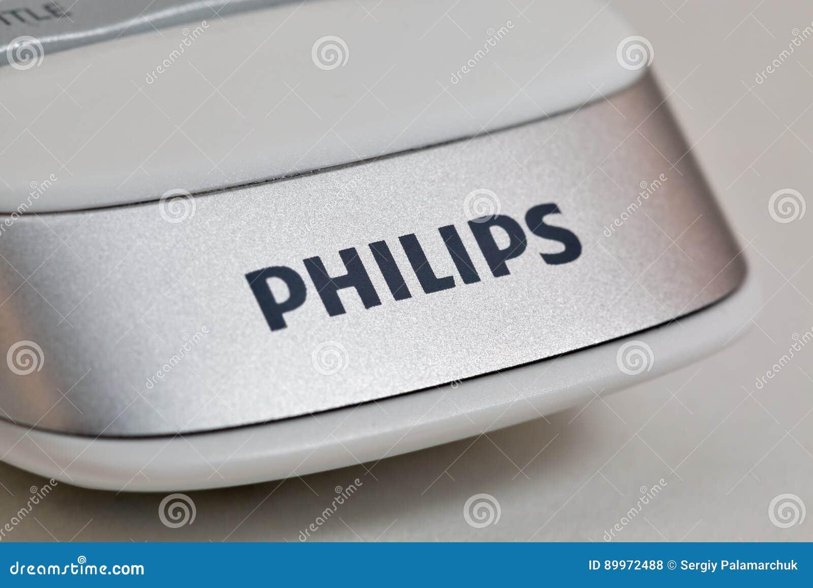 Modern Remote Control Of Smart TV Philips Closeup  Editorial