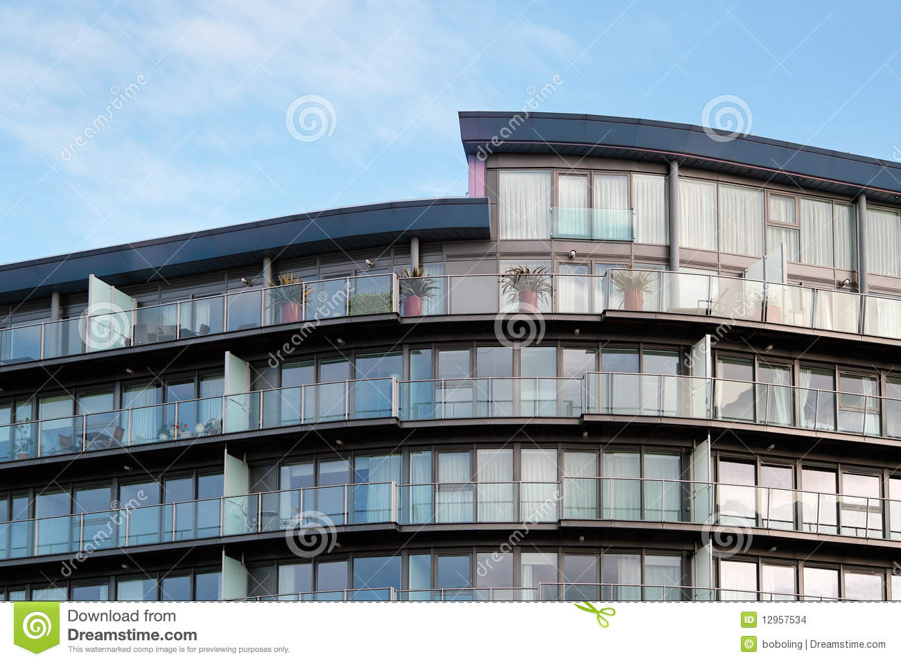 Modern Residential Apartment Building Stock Images - Image: 12957534