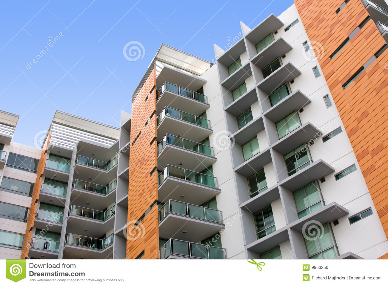 Modern residential apartment building stock photo image for Residential pictures