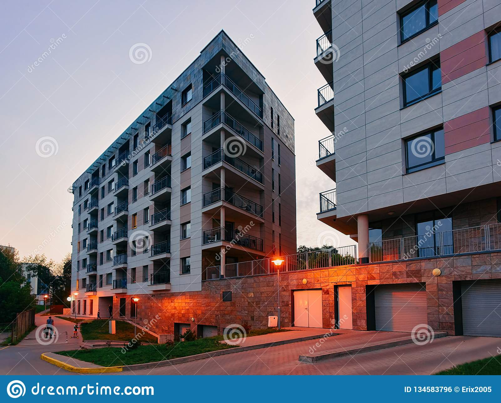 Modern Residential Apartment Building Architecture With ...