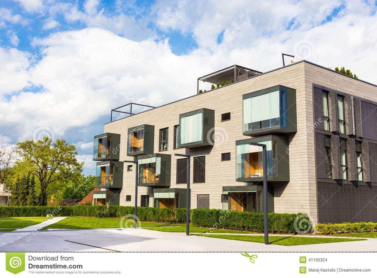 Modern residential architecture stock photo image of for Contemporary residential architecture
